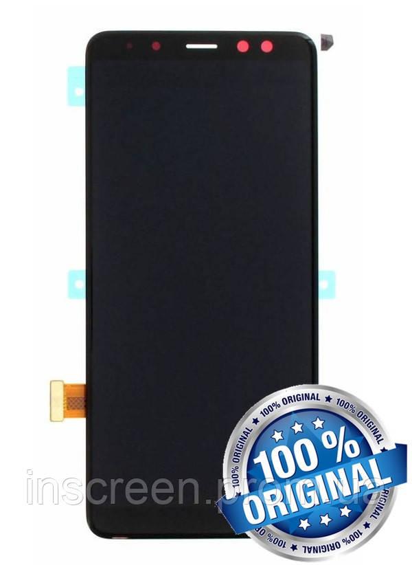 Дисплейний модуль для Samsung A530 Galaxy A8 2018 чорний (GH97-21406A) Оригінал, фото 2