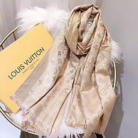 Шарф платок палантин в стиле Louis Vuitton (Луи Витон) БЕЖЕВЫЙ
