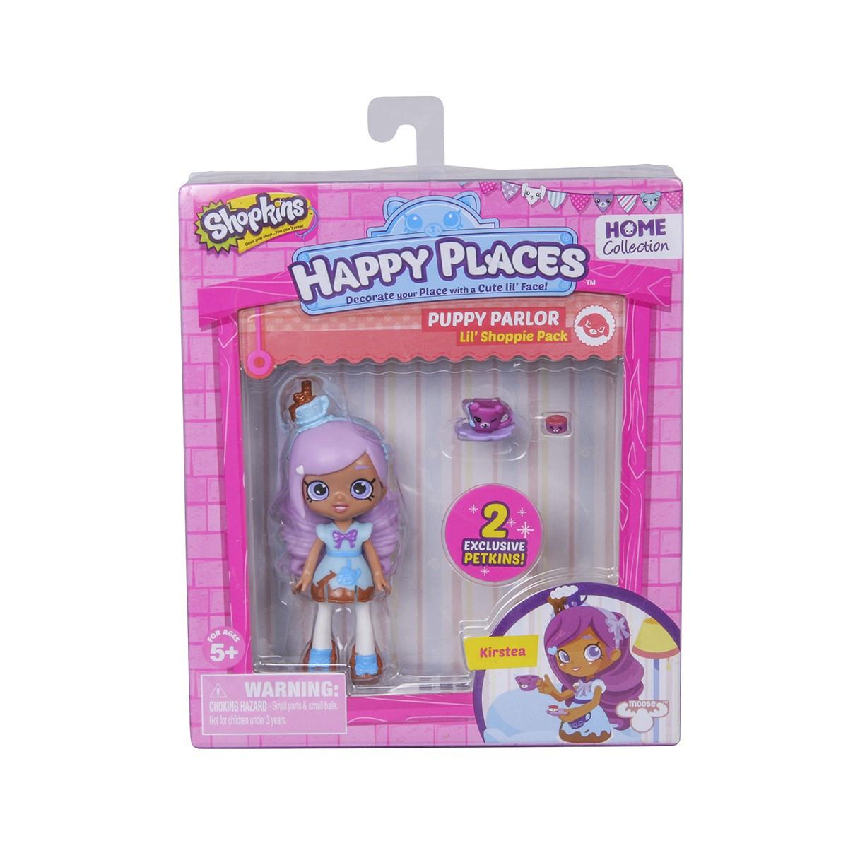 Кукла HAPPY PLACES S1 – КРИСТИ (2 эксклюзивных петкинса, подставка)