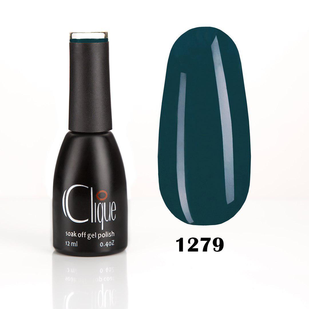 Гель-лак Clique 12 мл №1279 (сине-зеленый)
