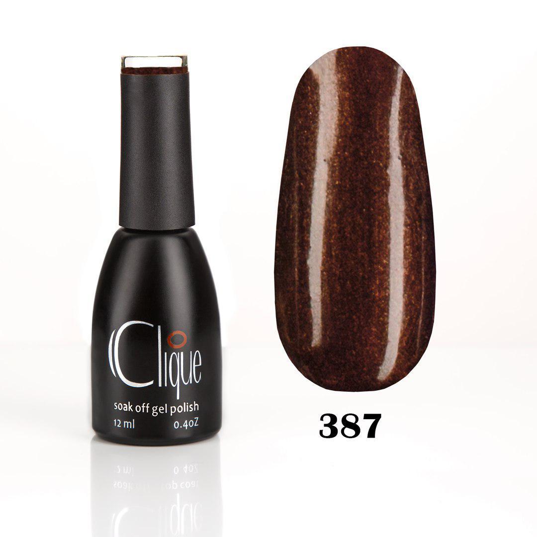 Гель-лак Clique 12 мл №387 (умеренный коричневый)