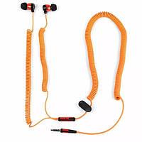 """Дротові навушники """"Bungee"""", помаранчеві, фото 1"""