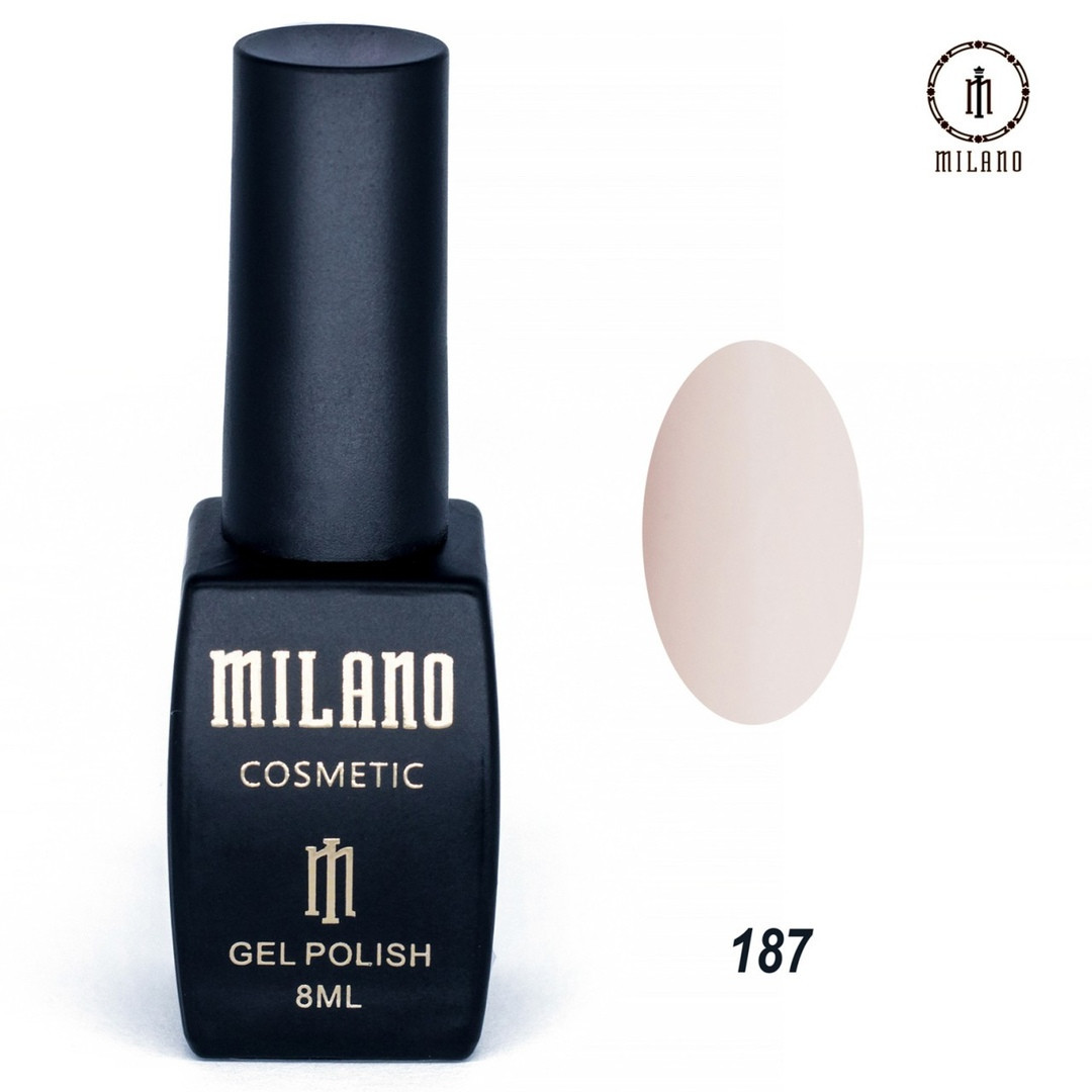 Гель-лак Milano 8 мл, № 187