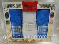 """Комплект полотенец Greek Life 3 """"Versace"""" Cotton лицо (2) +баня (1) Турция    pr-c49"""
