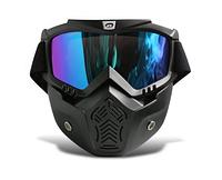 Горнолыжная маска-трансформер, для лыж и сноуборда 2в1. Нижняя часть съёмная.