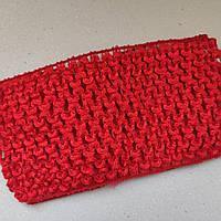 Детские повязочки на голову, 7см ширина Цвет - красный