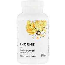"""Фитосомы куркумина Thorne Research """"Meriva 500-SF"""" без сои (120 капсул)"""