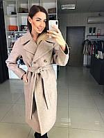 """Демисезонное женское пальто  """"Жасмин"""",бежевый"""