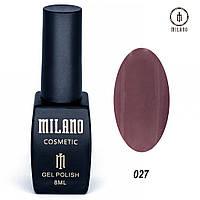 Гель-лак Milano 8 мл, № 027