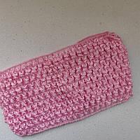 Детские повязочки на голову, 7см ширина Цвет - розовый
