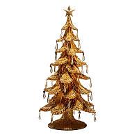 """Статуэтка """"Новогодняя елка"""" золотая, 54 см, фото 1"""