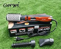 Стайлер - фен для волос Gemei GM 4828, мощность 1000W, 3 насадки, фен бытовой, фен парикмахерский