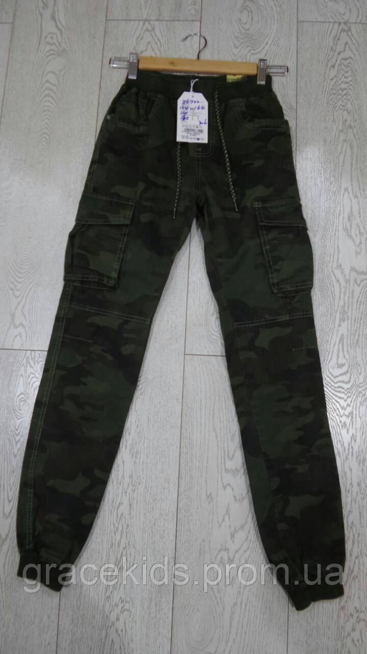Брюки военные для мальчиков джоггеры подростковые GRACE,разм 134-164 см