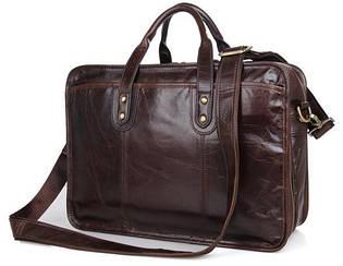 Практичная деловая сумка для мужчины из натуральной кожи Tiding Bag 7345Q