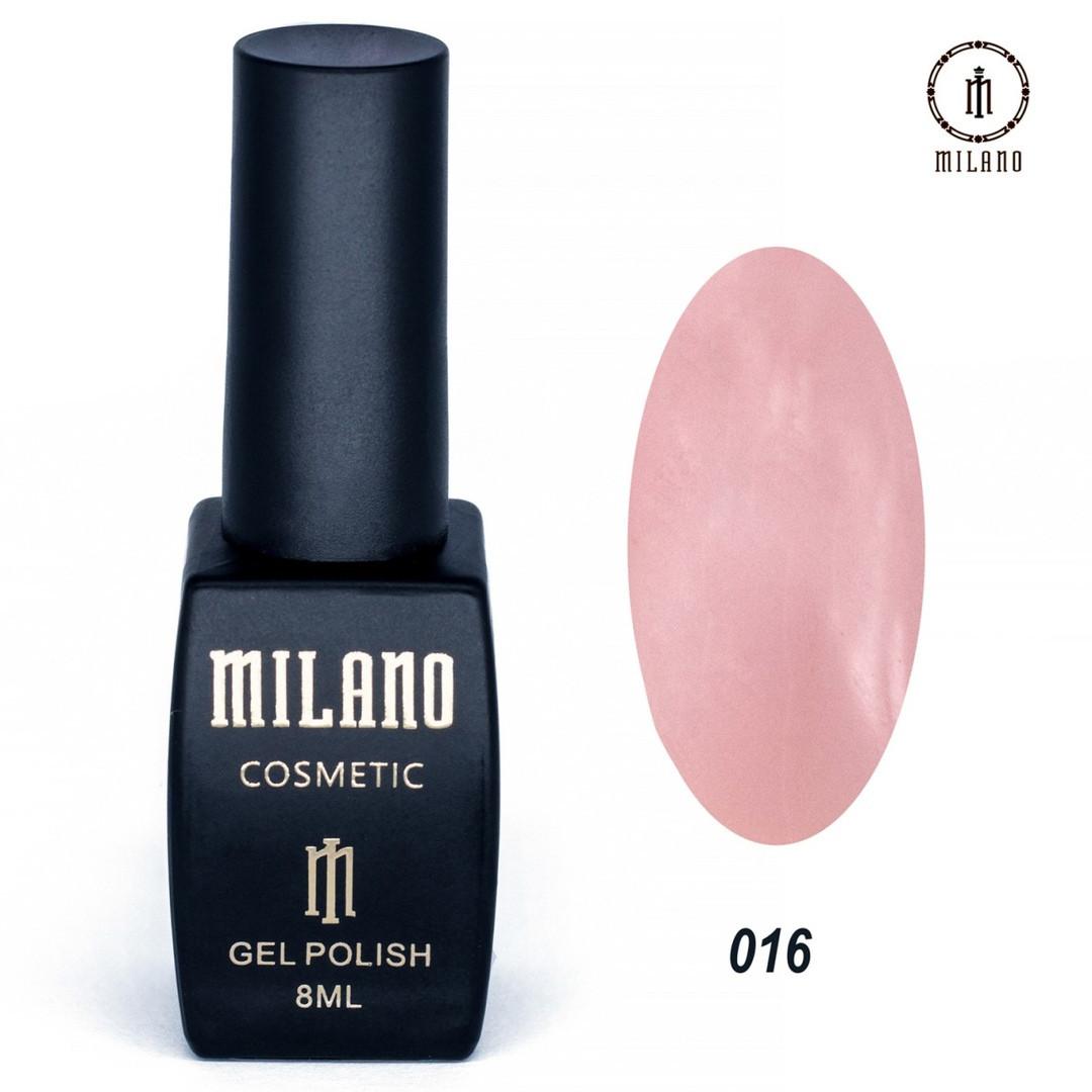 Гель-лак Milano 8 мл, № 016