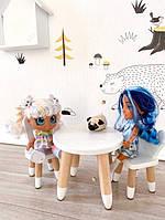 Столик, стульчик для куклы, стул, стол, мебель, игрушки для детей