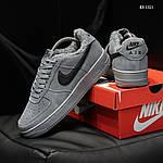 Мужские кроссовки Nike Air Force 1 07 Mid LV8 (серые) ЗИМА, фото 4