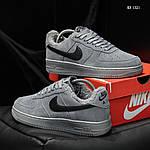 Чоловічі кросівки Nike Air Force 1 07 Mid LV8 (сірі) ЗИМА, фото 5