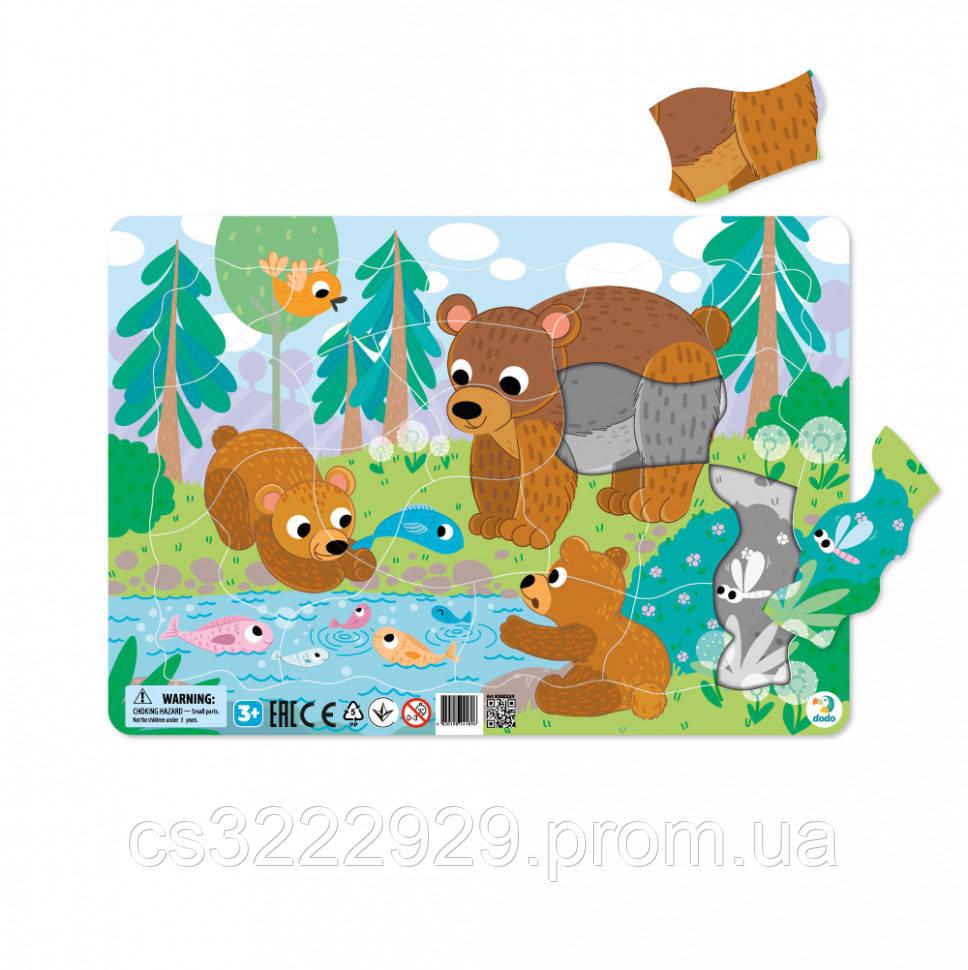 Пазл с рамкой DoDo Медвежата R300221