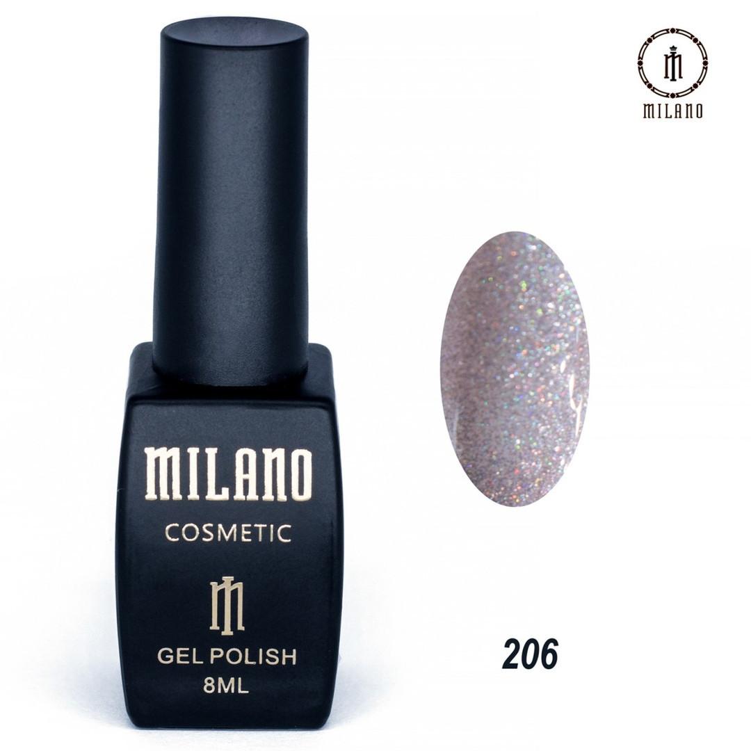 Гель-лак Milano 8 мл, № 206