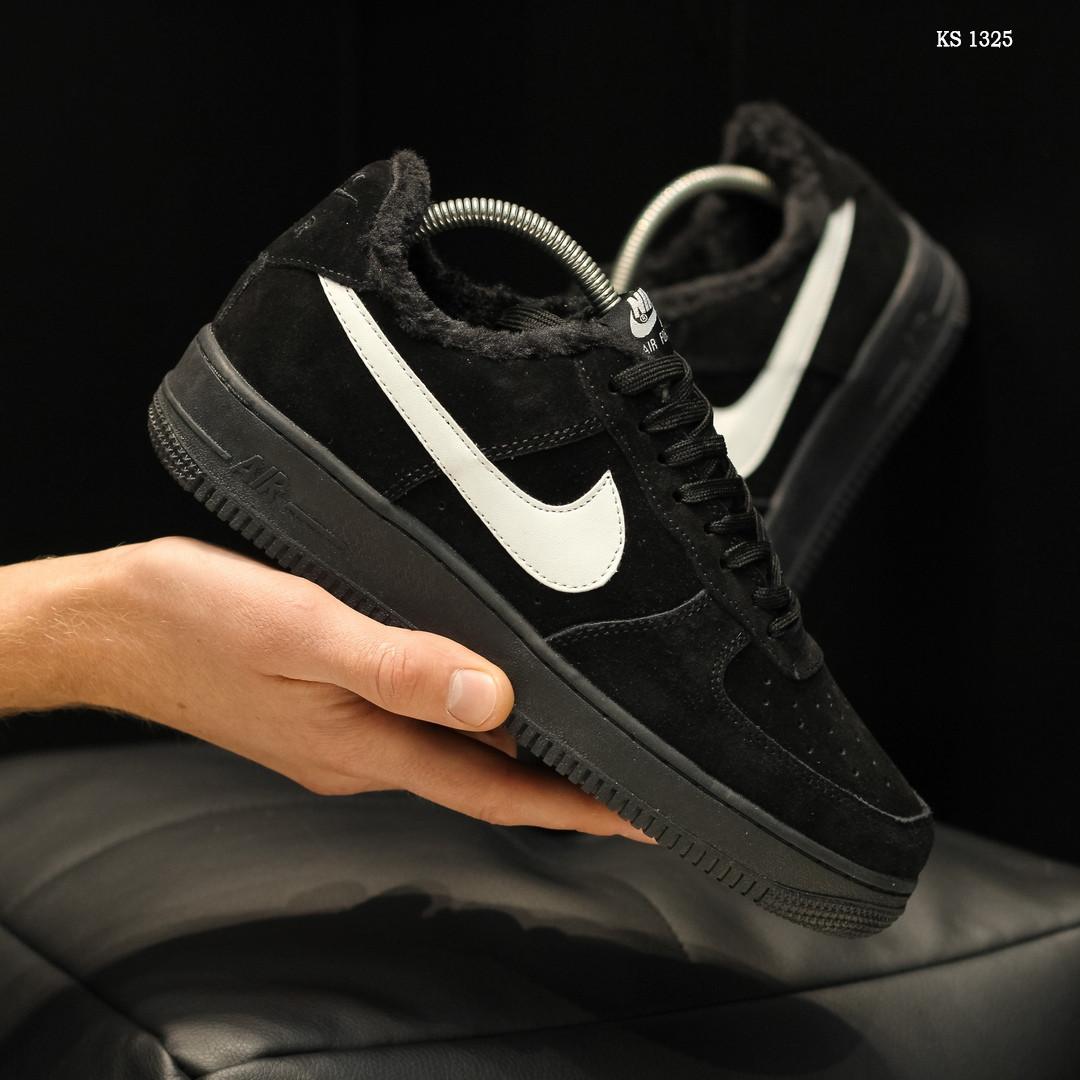 Чоловічі кросівки Nike Air Force 1 07 Mid LV8 (чорні) ЗИМА