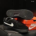 Чоловічі кросівки Nike Air Force 1 07 Mid LV8 (чорні) ЗИМА, фото 5