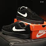 Чоловічі кросівки Nike Air Force 1 07 Mid LV8 (чорні) ЗИМА, фото 6