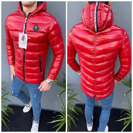 Зимова чоловіча куртка червоного кольору, фото 2