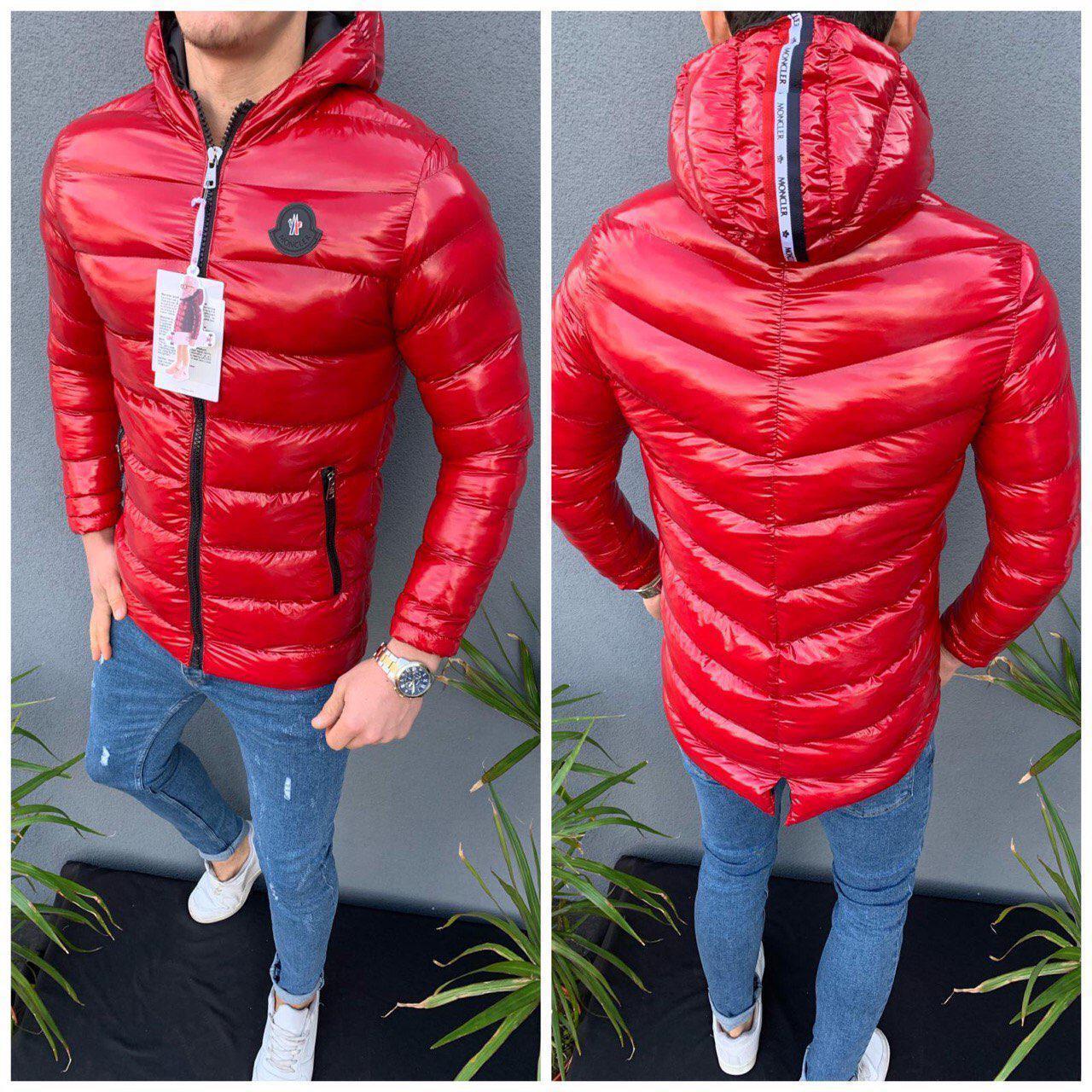 Зимова чоловіча куртка червоного кольору
