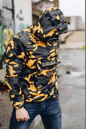 Утепленный анорак мужской желтый камуфляж, фото 2