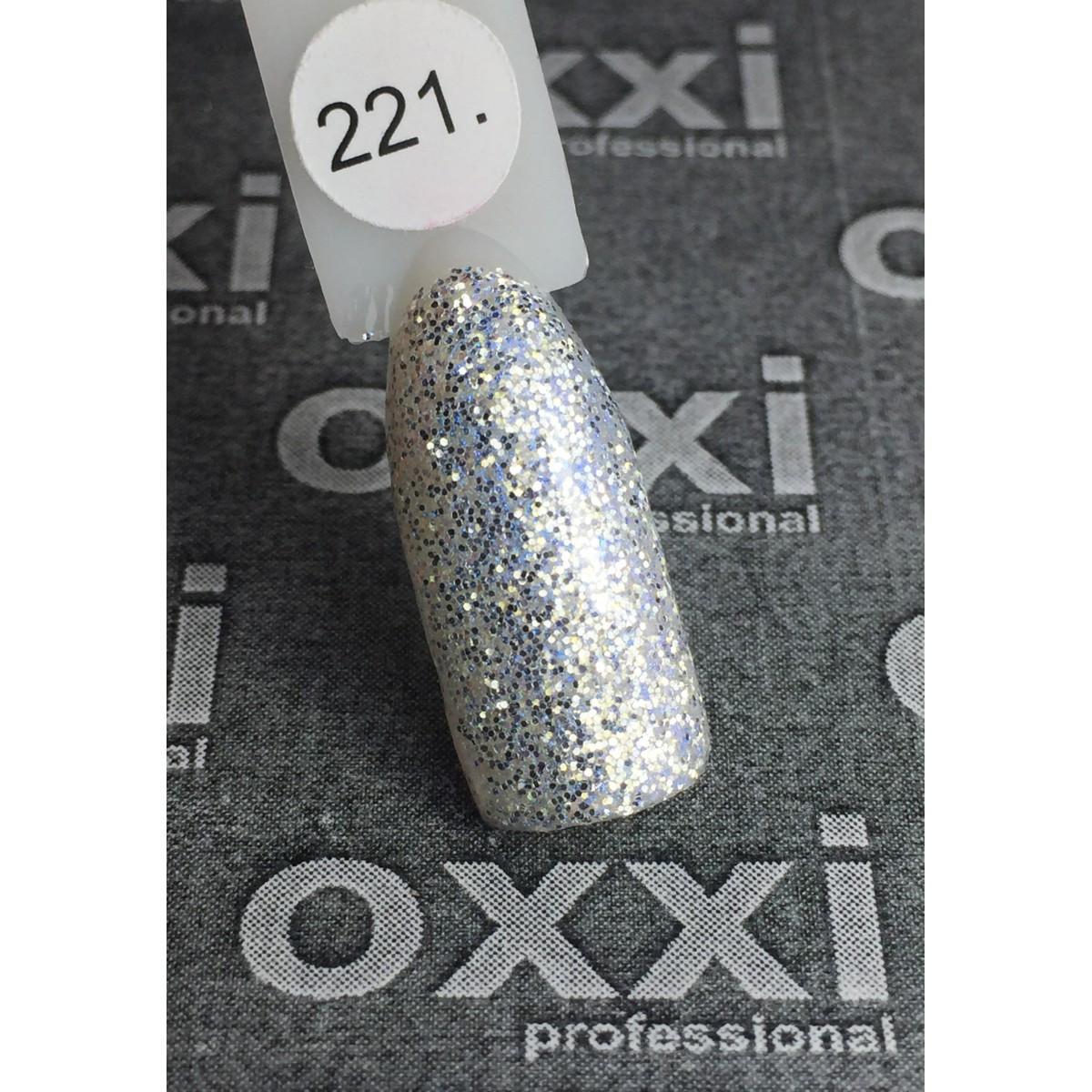 Гель лак Oxxi №121 с блёстками 8мл
