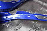 Мото захист рук ударостійка з кріпленням на кермо 22мм (синя) варіант 7, фото 3