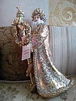 Новогодняя статуэтка Золотой Санта, 31см, фото 1