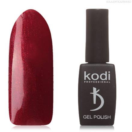 Гель лак Kodi  №10WN, темно-вишневый, с золотистыми микроблестками