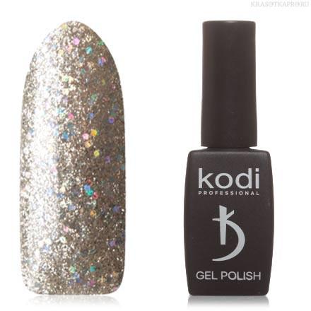 Гель лак Kodi  №20SH, с серебристыми микроблестками и голографическими блестками