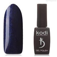 Гель лак Kodi  №20B, фиолетово-синий, с синими микроблестками