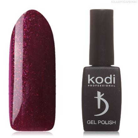 Гель лак Kodi  № 90WN,пурпурно-баклажановый, с розовыми микроблестками