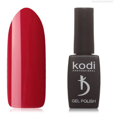 Гель лак Kodi  №90R,клубнично-красный