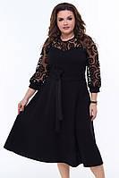 Красивое, женственное платье с сеткой 50-58 р в разных цветах