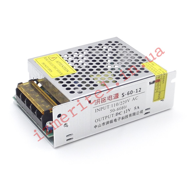 Импульсный блок питания 12В 5А 60Вт