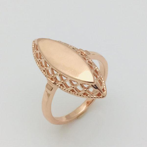 Перстень Маркиз, позолота 18К , размер  17, 18, 19, 20, 21, 22