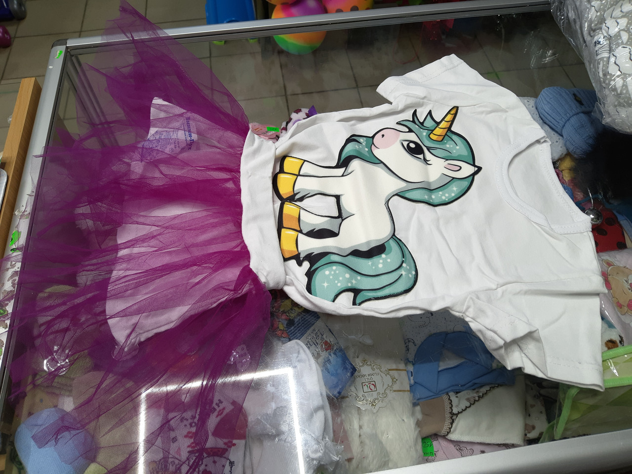 Летний детский костюм для девочки с фатиновой юбкой р.92 -122