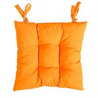 Подушка на стул оранжевая Апельсин  40*40 см