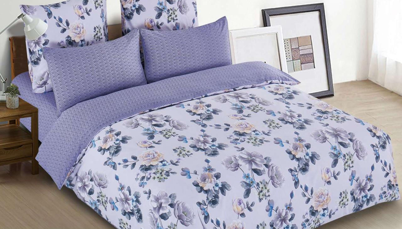 Полуторный комплект постельного белья 150*220 сатин (13326) TM КРИСПОЛ Украина