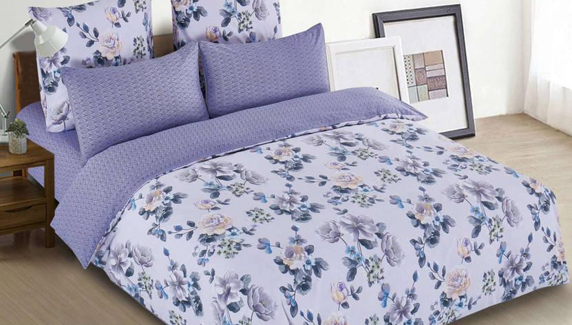 Полуторный комплект постельного белья 150*220 сатин (13326) TM КРИСПОЛ Украина, фото 2