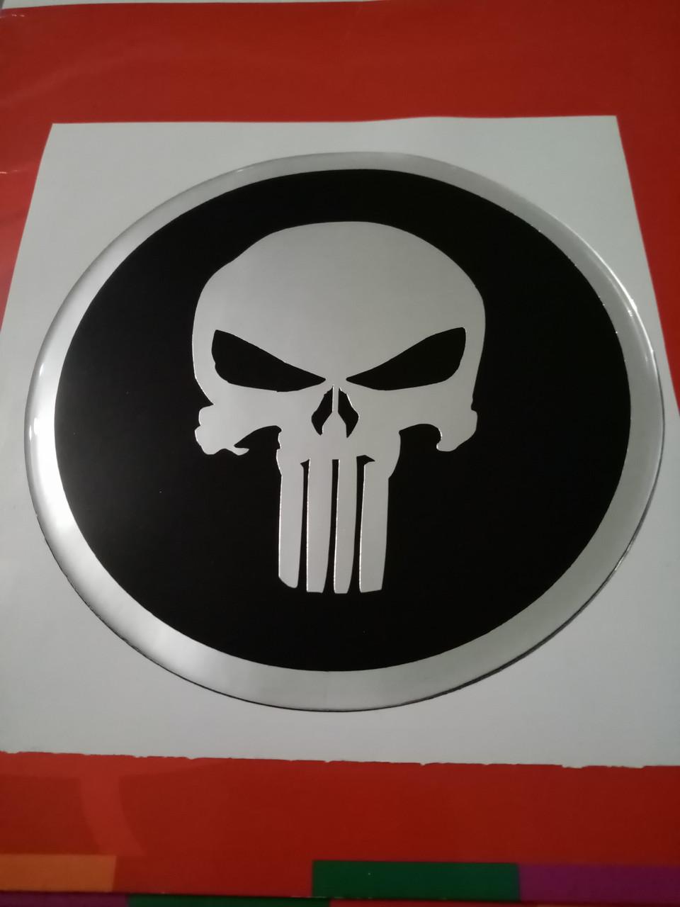 Заказ покупателя силиконовАЯ 3D наклейка КАРАТЕЛЬ   149 мм