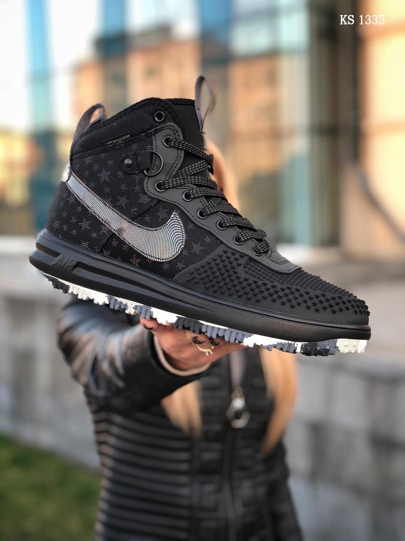Мужские кроссовки Nike LF1 Duckboot '17 (черные/звездочки) KS 1335