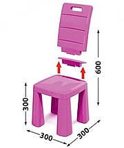 Набор столик + аэрохоккей и два стула (04580/31) Розовый, фото 3