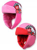 {есть:52,54} Шапка-ушанка для девочек  Hello Kitty,52,54см.
