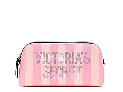 Фірмова Сумочка Victoria's Secret Signature Stripe Beauty Bag, Сірий в смужку
